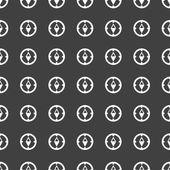 Compass web icon. flat design. Seamless gray pattern. — Stock Vector