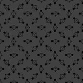 Watch,clock web icon. flat design. Seamless gray pattern. — Stock Vector