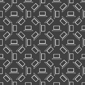 Notebook web icon. flat design. Seamless gray pattern. — Vector de stock