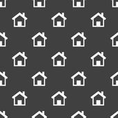 House web icon. flat design. Seamless pattern. — Stock Vector