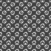 Icono de la web de casa. diseño plano. patrón sin costuras. — Vector de stock