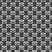 Mail envelope web icon. flat design. Seamless pattern. — Stock Vector