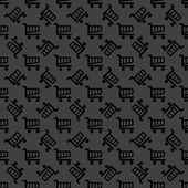 Shopping basket web icon. flat design. Seamless pattern. — Vetorial Stock