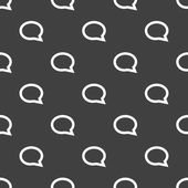 Cloud thoughts web icon. flat design. Seamless pattern. — Stok Vektör