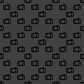 Camera web icon. flat design. Seamless pattern. — Stock Vector