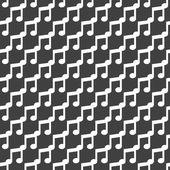 Musik webbikonen. platt design. Seamless mönster. — Stockvektor