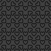 Heart web icon. flat design. Seamless pattern. — Vector de stock