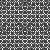 Heart web icon. flat design. Seamless pattern. — Stock Vector