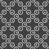 Icono de reloj web. diseño plano. patrón sin costuras. — Vector de stock