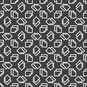 Blank paper web icon. flat design. Seamless pattern. — Vector de stock