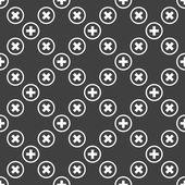 Plus ikony www. płaska konstrukcja. wzór. — Wektor stockowy