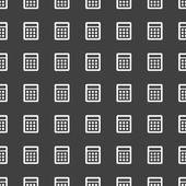 Hesap makinesi web simgesi. düz tasarım. seamless modeli. — Stok Vektör