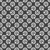 Globe web icon. flat design. Seamless pattern. — Stock Vector