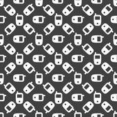 Mobile phone web icon. flat design. Seamless pattern. — Wektor stockowy