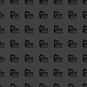 Sms web simgesi. düz tasarım. seamless modeli. — Stok Vektör