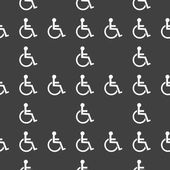 Disabled web icon. flat design. Seamless pattern. — Stok Vektör