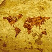 World map web icon, flat design — Stock Vector