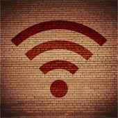 Wi-fi. botón plano moderno web y espacio para su texto — Vector de stock