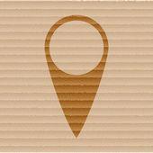 Mapa de ponteiros. botão web apartamento moderno e espaço para seu texto — Vetor de Stock