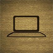 ノートブック。フラットな近代的な web ボタンおよびテキストのスペース. — ストックベクタ