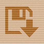 Descargar disco floppy. botón plano moderno web y espacio para su texto — Vector de stock