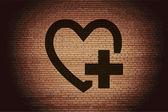 Corazón. botón plano moderno web y espacio para su texto. — Vector de stock