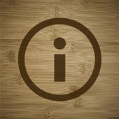 Info. Flat modern web button and space for your text. — Stock Vector