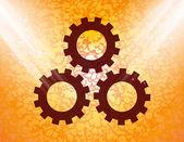 Settings Sign web icon, flat design — Stock Vector