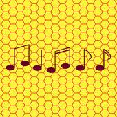 音乐元素说明 web 图标,平面设计 — 图库矢量图片
