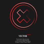 İptal. düz modern web düğme ve metin için yer. — Stok Vektör