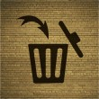 Trash bin icon Flat with abstract background — Stock Photo #49091767