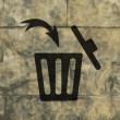Trash bin icon Flat with abstract background — Stock Photo #49091787
