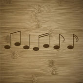Music notes on staves with abstract background — Stock Photo