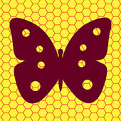 Butterfly icon flat design with abstract background — Stock Photo