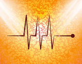 Heart  pulse flat design with abstract background — Stockfoto