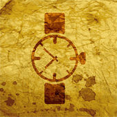Watch,clock. icon Flat with abstract background — Stockfoto