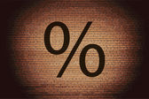 Percent icon Flat with abstract background — Stock Photo