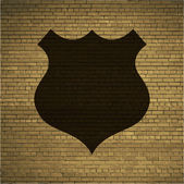 Shield icon Flat with abstract background — Stock Photo