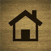 Home. house icon Flat with abstract background — Stock Photo