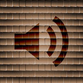 Głośnik ikona płaskie z streszczenie tło — Zdjęcie stockowe