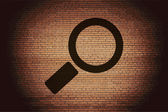 Search Icon. magnifier Flat with abstract background — Stock Photo