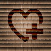 Heart icon Flat with abstract background — Stockfoto