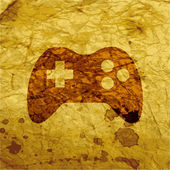Gaming Joystick icon flat design with abstract background — Stock Photo