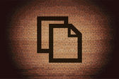 Blank paper icon flat design with abstract background — Stock Photo