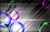 抽象的なカラフルなレインボー ファンタジー ライト背景 — ストックベクタ