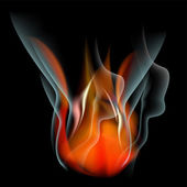 Burn flame fire vector abstract background — Stock Vector