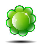Green Flower Background. Vector illustration. — Stock Vector