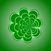 Green Flower Background. Vector illustration. — Stock Vector