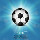 Soccer ball web icon, flat design — Vetorial Stock