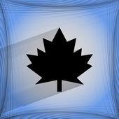 Maple Leaf. Flat modern web design on a flat geometric abstract background  — Stockvektor